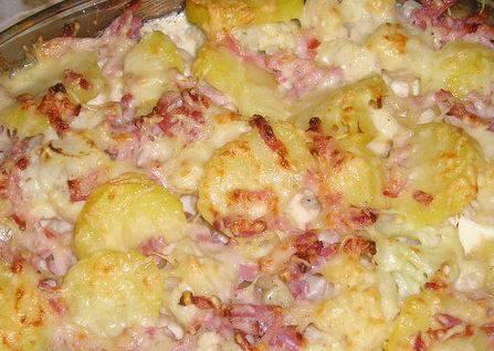 sbriciolata patate  prosciutto