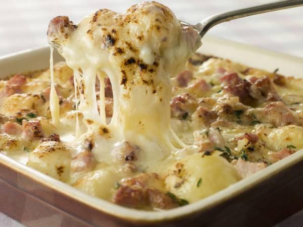 sformato patate salsiccia e mozzarella
