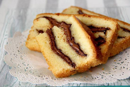 Plumcake cocco e Nutella