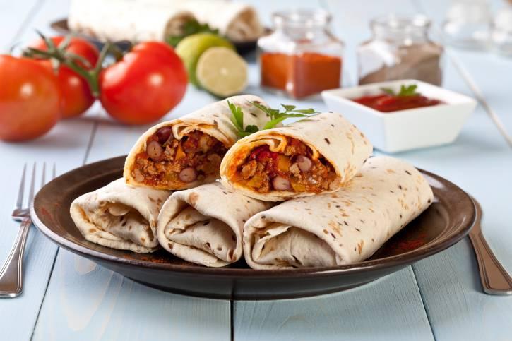 Burritos con verdure