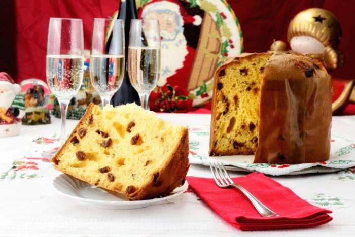 Italian panettone Christams cake