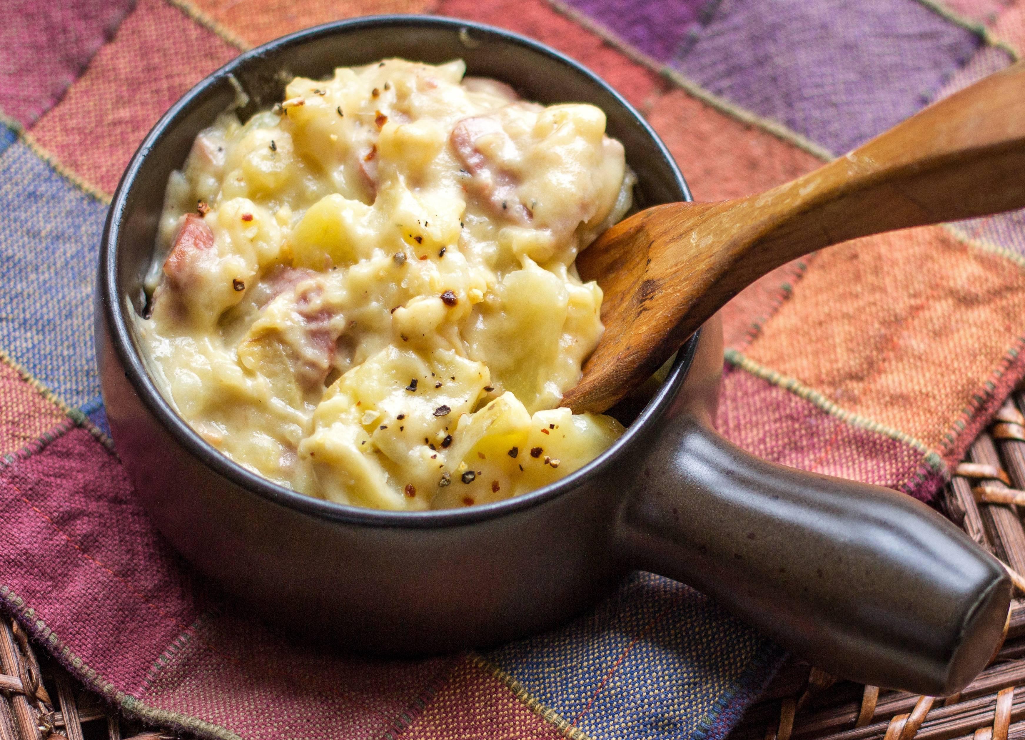 Pasticcio di Patate, Mozzarella e Mortadella