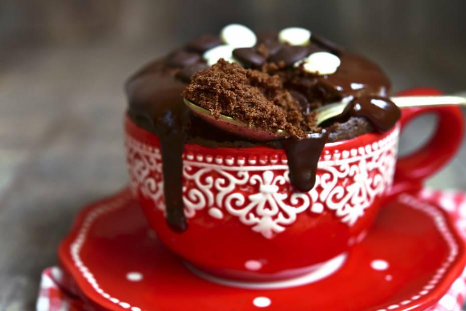 Chocolate mug cake.