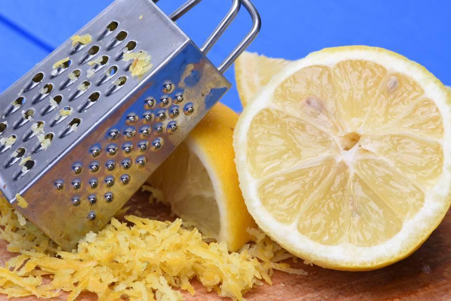 Fruit lemon fruit and lemon zest with grater