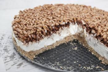 Cheesecake nutella e riso soffiato
