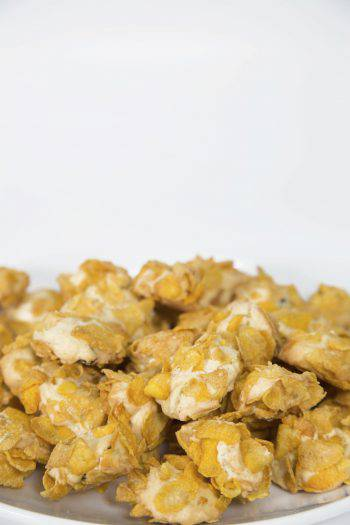 Corn Flakes Cookies on white Background