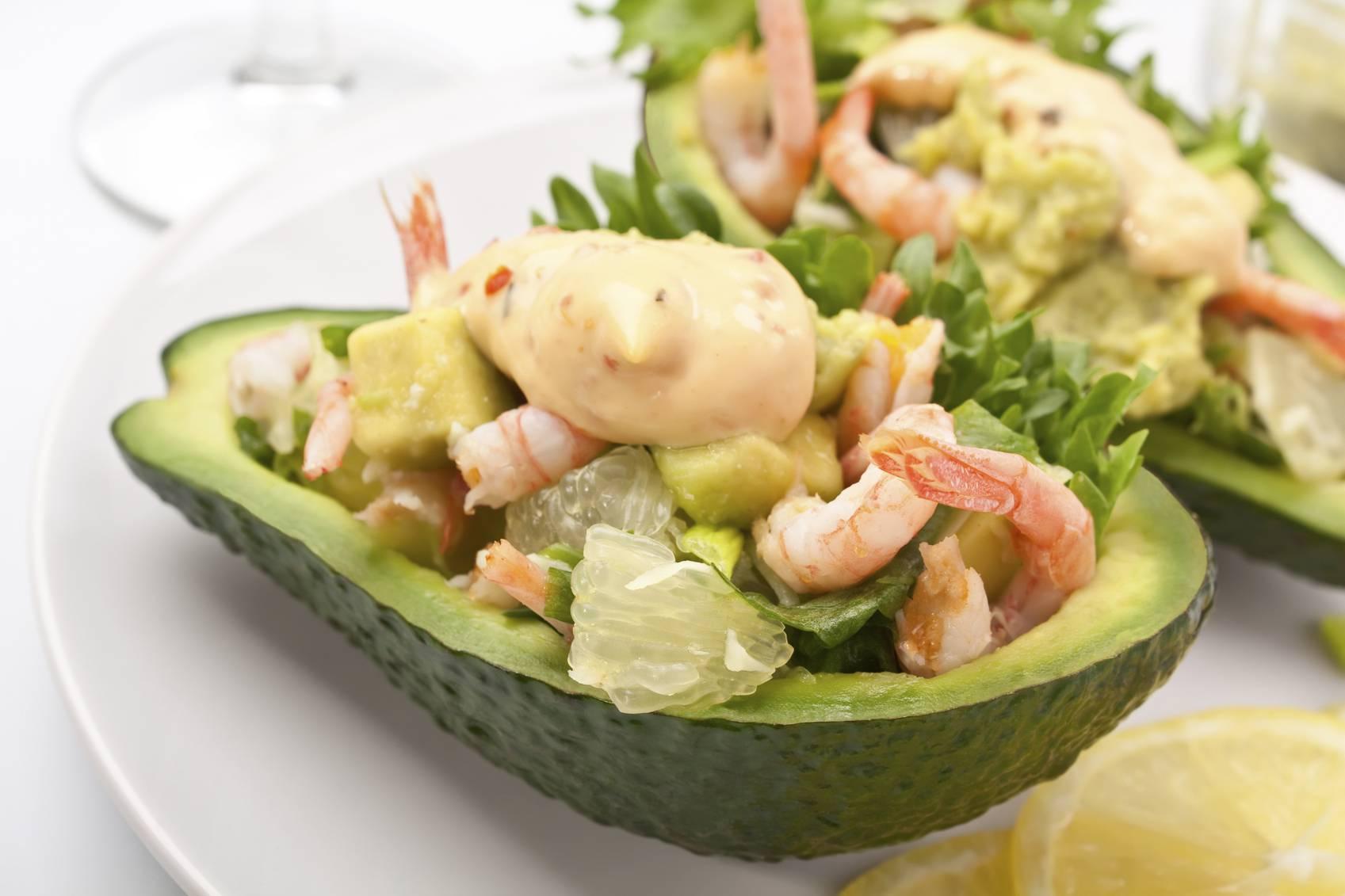 Салат с пошаговыми фото авокадо креветки