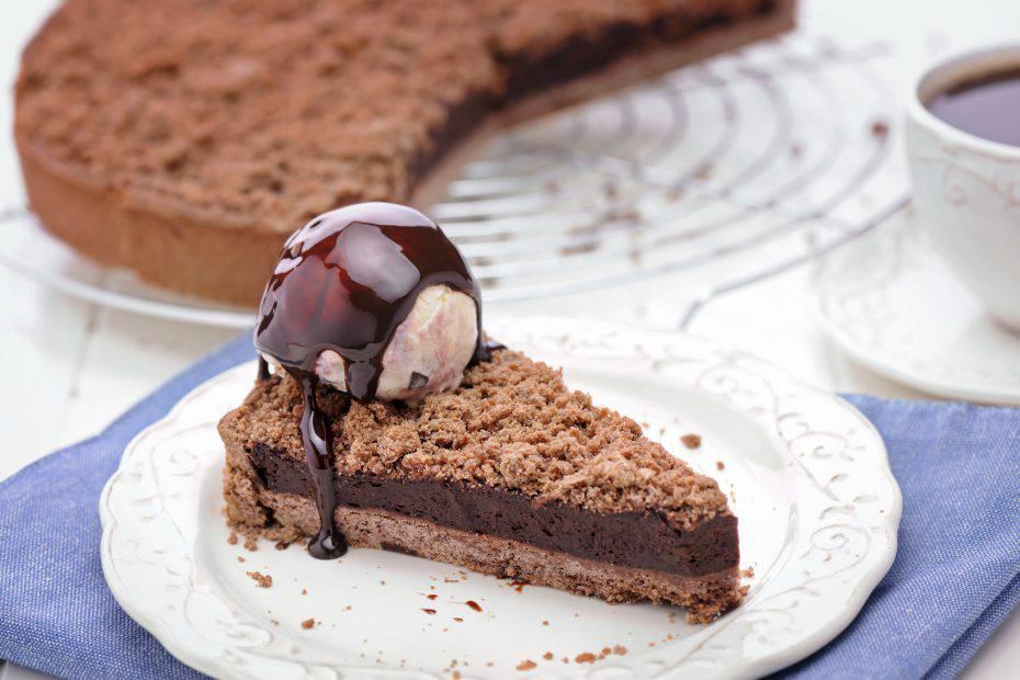 crumble al cioccolato e nutella
