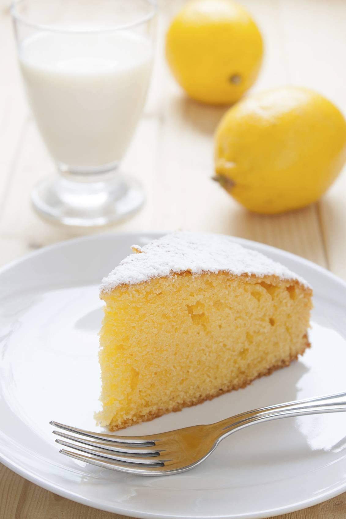 torta di farina di riso e limone