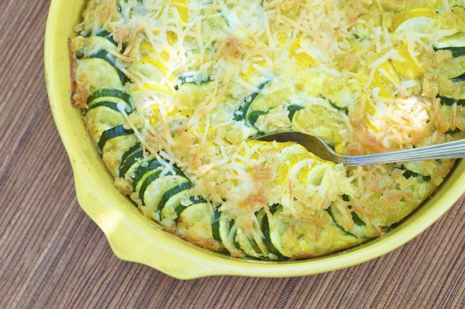 zucchine gratinate filanti