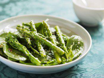 Asparagus and broccoli salad