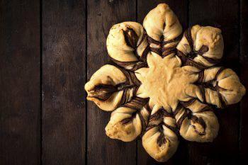 stella di pan brioche alla Nutella