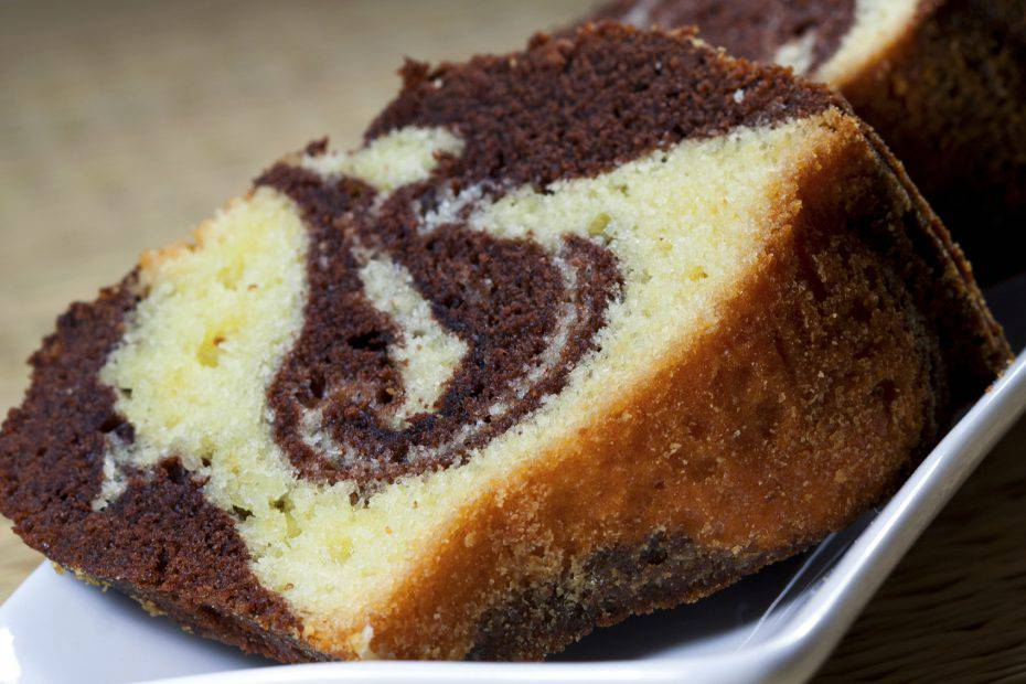 torta bicolore panna e Nesquik