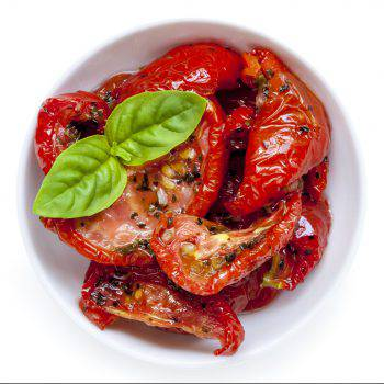 Sun Dried Tomatoes Isolated