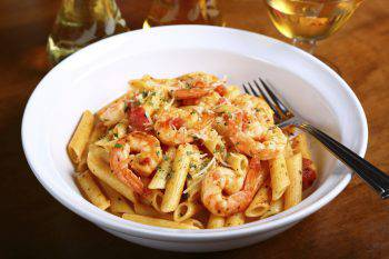 Penne Pasta With Shrimps