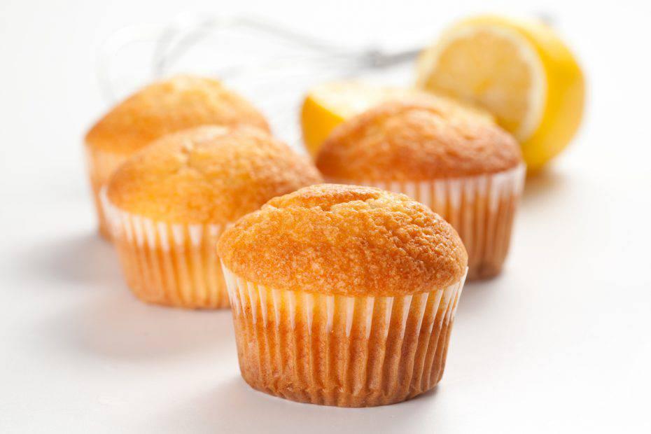 muffin al latte caldo e limone