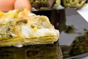 lasagna with artichokes