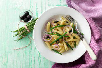 Italian Stills: Penne with Green Beans, Onions and Olives