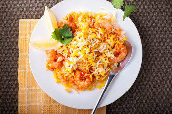 Indian Biryani with Shrimp