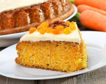 Piece of carrot pie