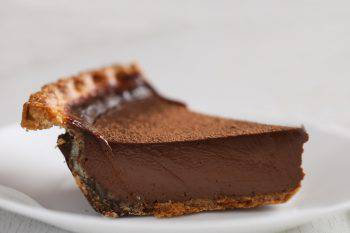 Slice Of Chocolate Derby Pie, Side View