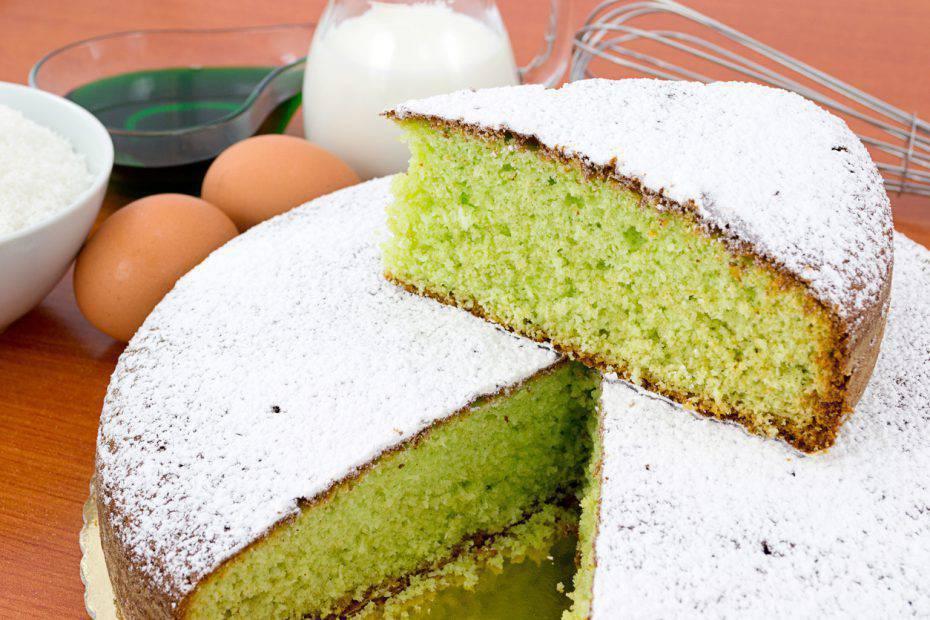 torta al latte e menta
