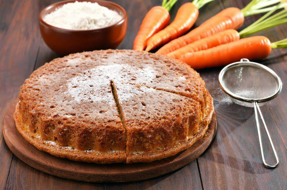 Torta alle carote e yogurt