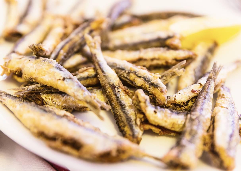 Alici fritte in farina di limone, dal gusto delicato e profumatissime