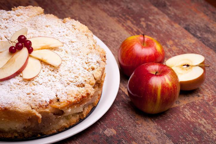 torta di mele, mascarpone e cannella