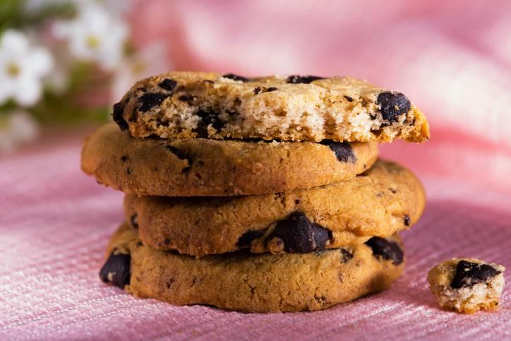 biscotti all'olio con gocce di cioccolato