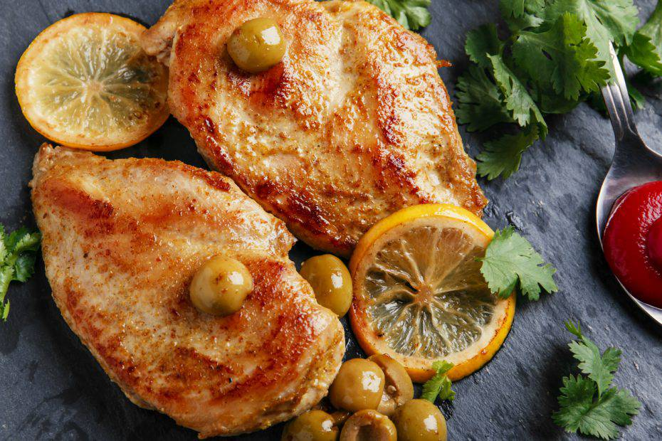 filetti di petto di pollo al sesamo e limone