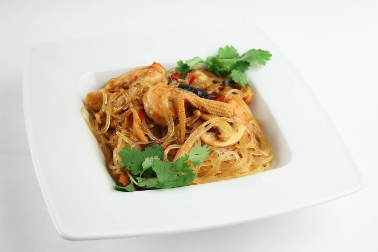 Spaghetti di Soia con Melanzane