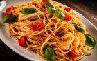 Spaghetti con Pomodorini e Crescenza
