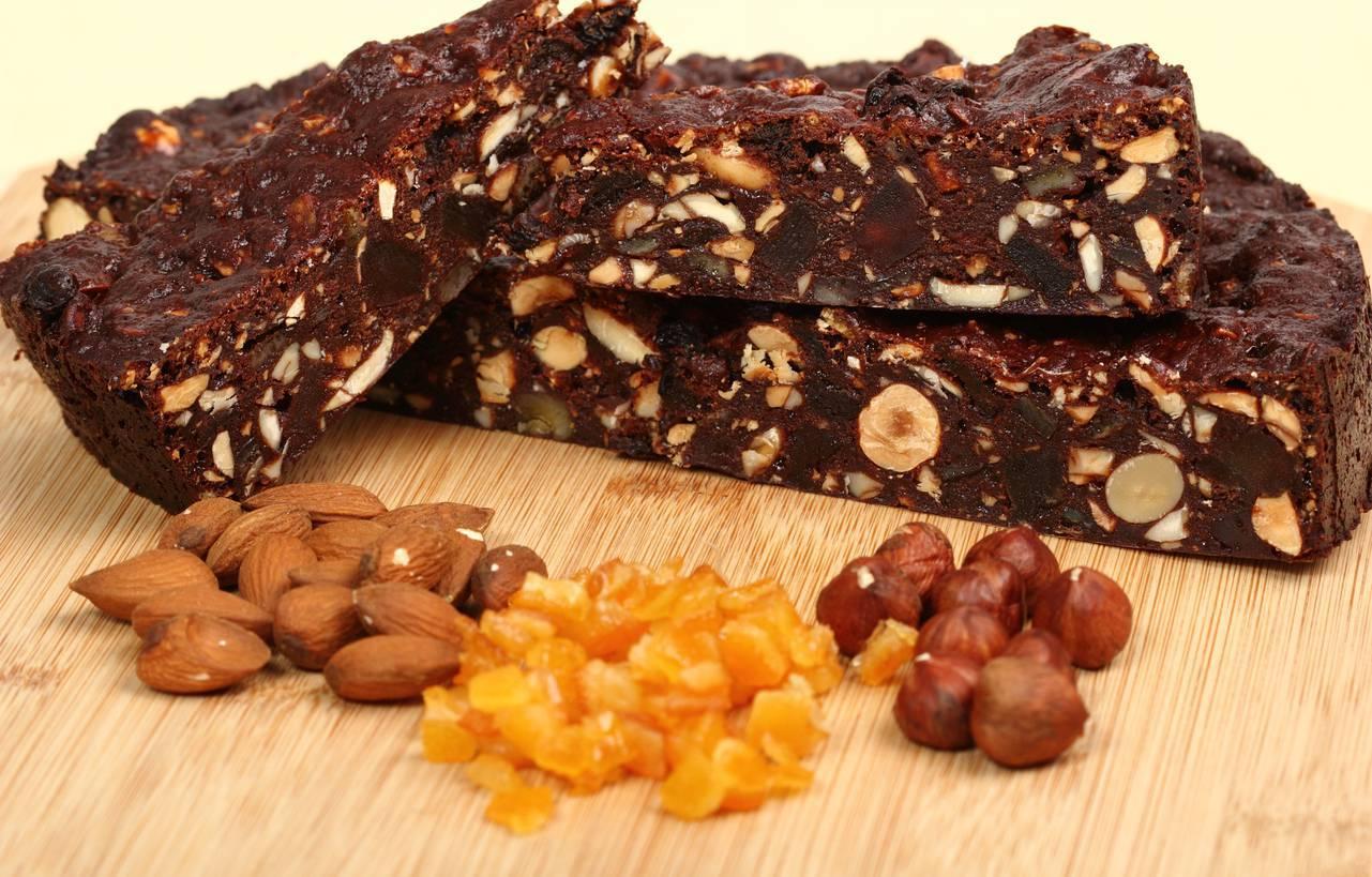 Panforte al Cioccolato Fondente, Mandorle e Nocciole