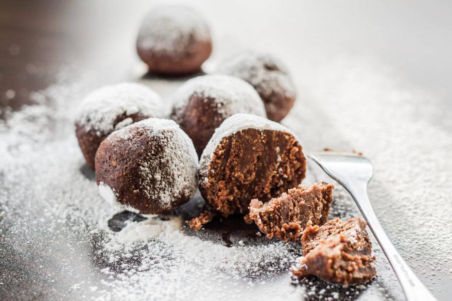 tartufini menta e cioccolato