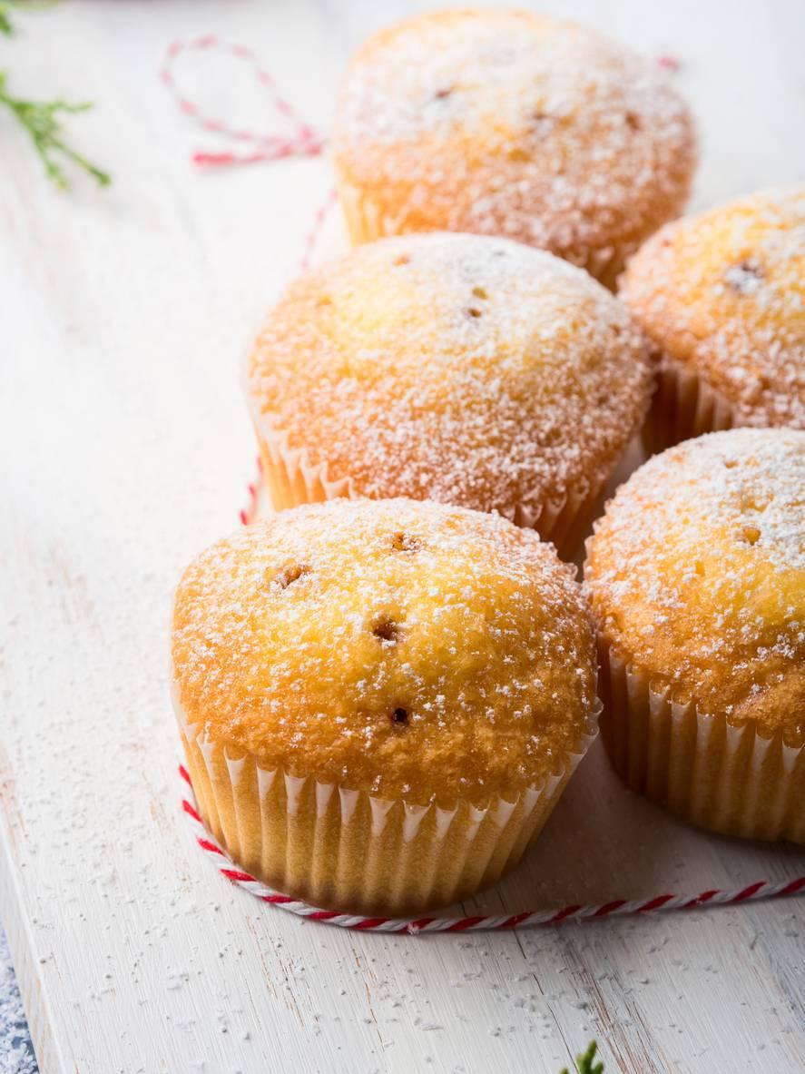 muffin soffici all'acqua con gocce di cioccolato