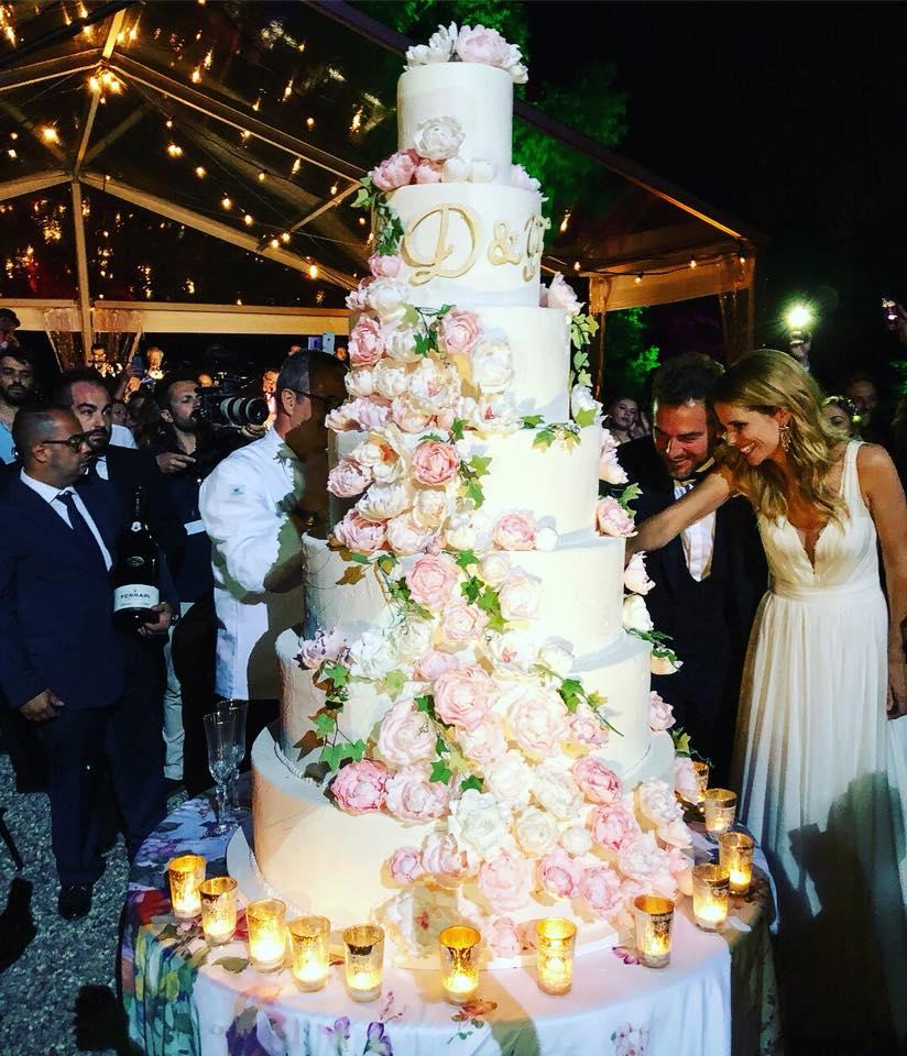 La torta di Ernst Knam per le nozze di Bossari e Lagerback