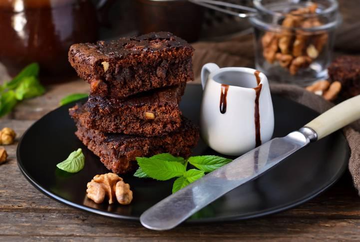 Torta cioccolato, noci e ricotta