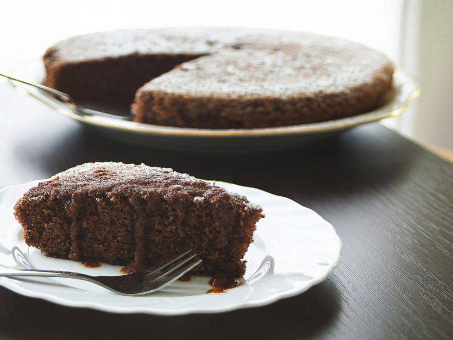 torta al cioccolato con due ingredienti
