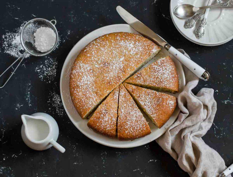 torta al miele, yogurt e limone