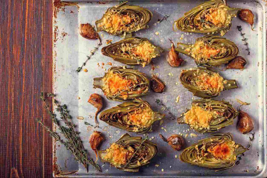 carciofi ripieni di parmigiano