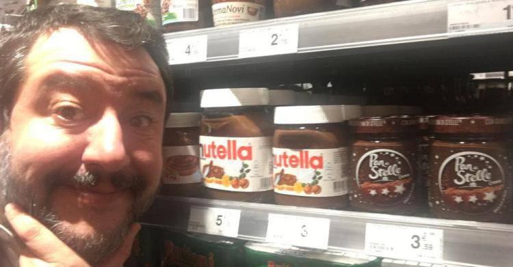 """Matteo Salvini contro Nutella: """"Usa nocciole della Turchia"""""""