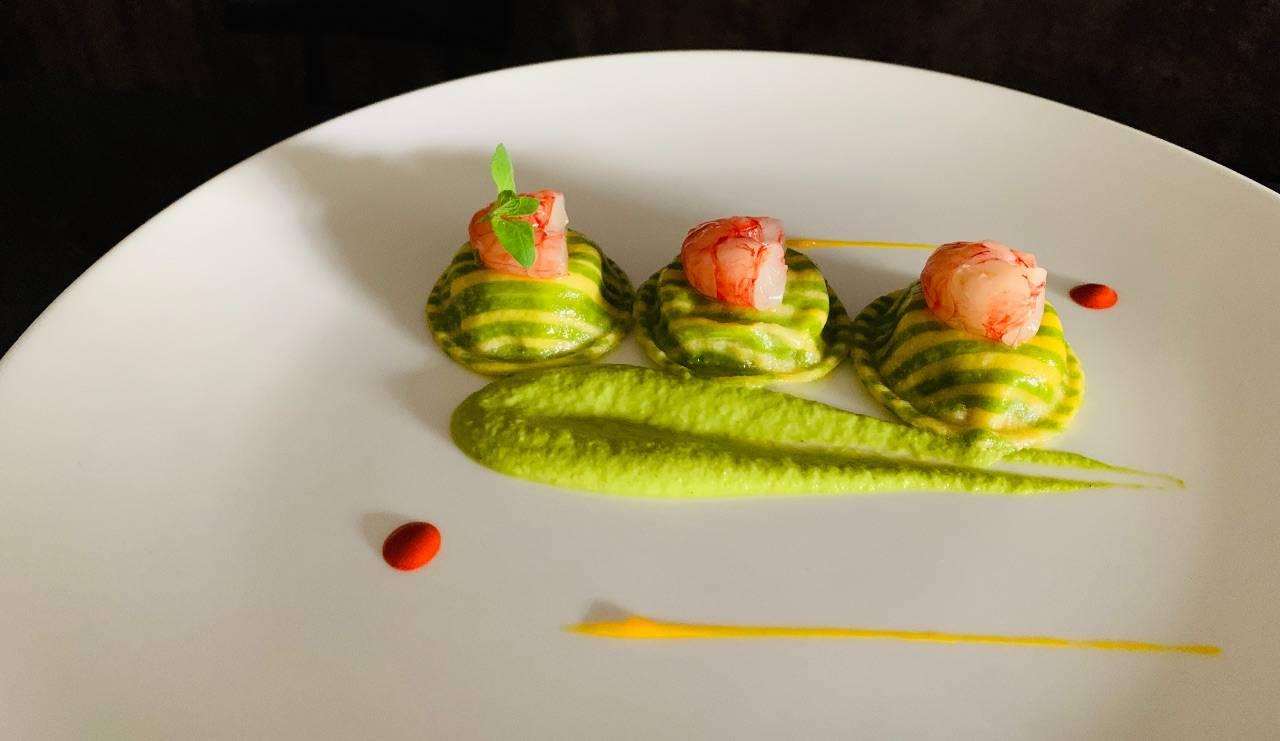 Ravioli ai gamberi e zucchine, la ricetta di Oliver Glowig