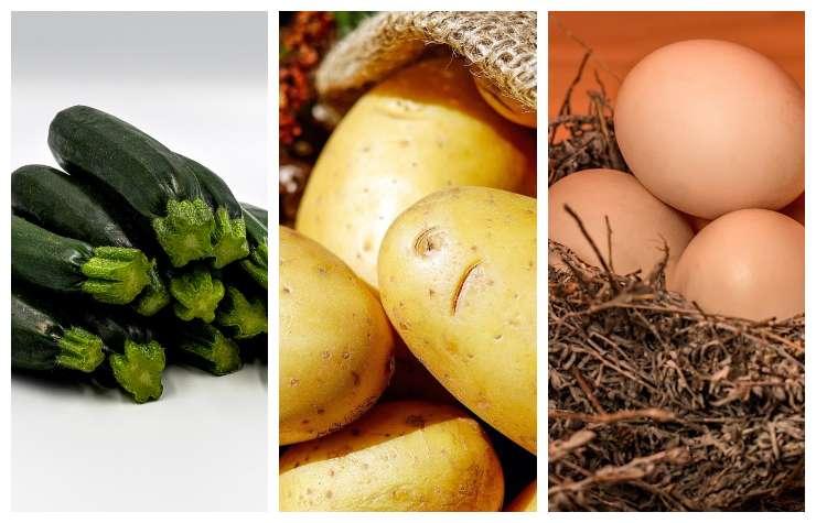 Zucchine patate uova ricetta