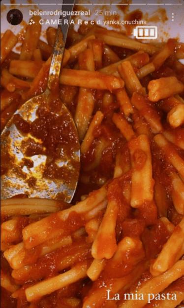 Belen Rodriguez pasta