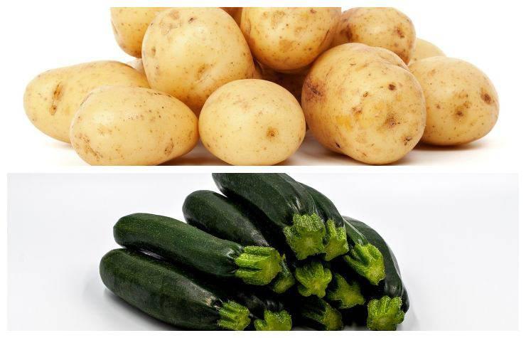 Patate zucchine abbinate