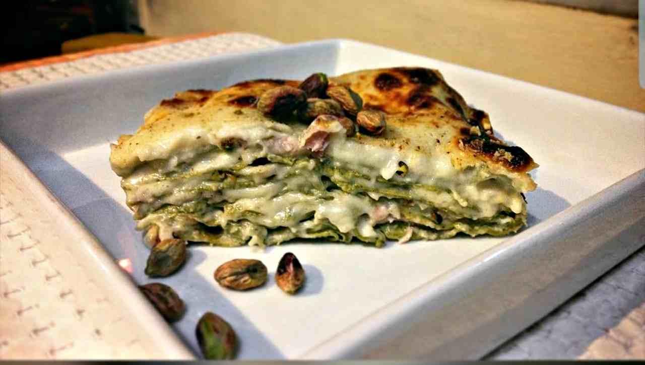 lasagna pistacchio croccante