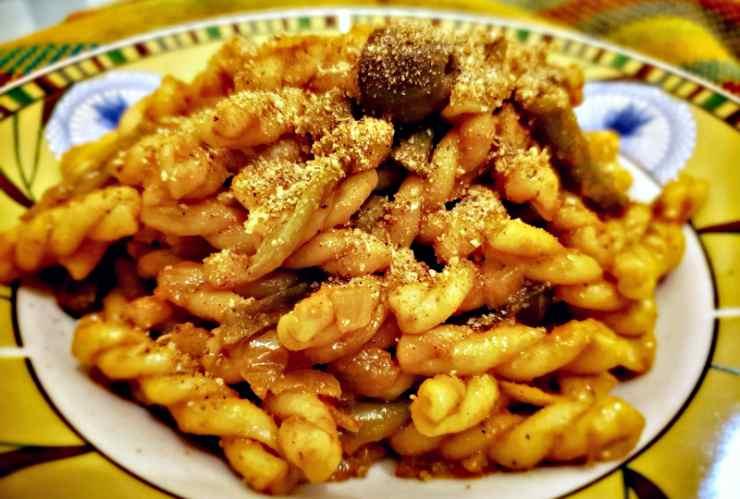 pasta fagiolini siciliana