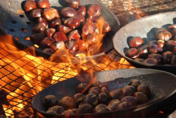 castagne al sale, metodo di cottura