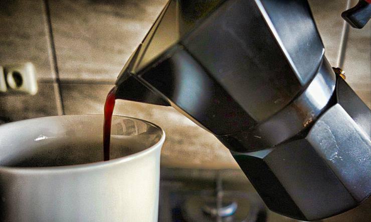il trucco della caffettiera
